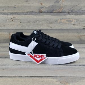 Women's Pony Classic Black/White Leather/Suede